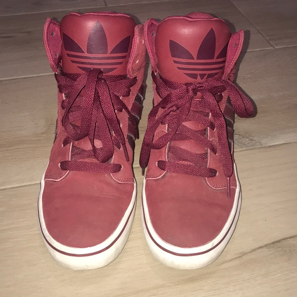 adidas Shoes | Red High Tops | Poshmark